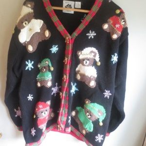 Storybook Knits Christmas Teddy Bear Sweater